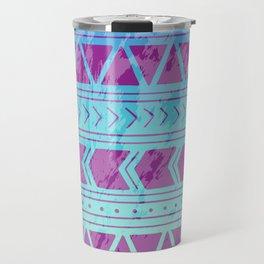 Berry Breeze Geometric Pattern Travel Mug