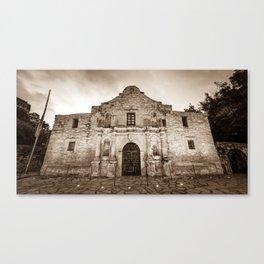 The Alamo in Sepia - San Antonio Texas Canvas Print