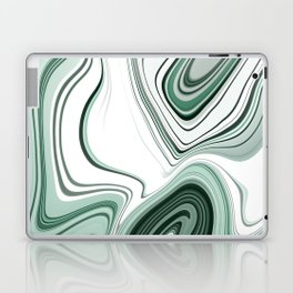 Bold Green Agate Stone Effect Design Laptop & iPad Skin