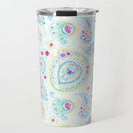 Watercolor Paisley Aqua Travel Mug