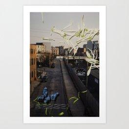 Urban Flowers 2 Art Print