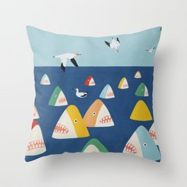 Shark Park Throw Pillow