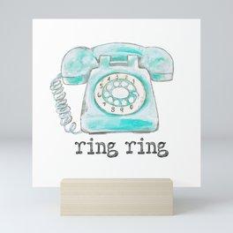 Vintage hone Ring Ring Mini Art Print