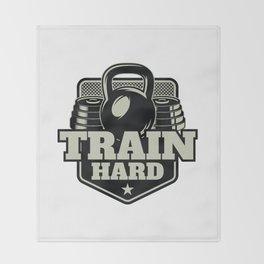 Train Hard Throw Blanket