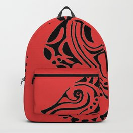 seahorse - red Backpack
