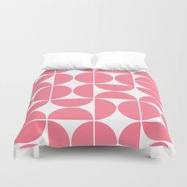 Mid Century Modern Geometric 04 Pink Duvet Cover