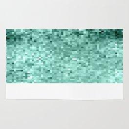 Teal Mint Green Pixels Rug