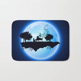 Pianist in The Sky Bath Mat