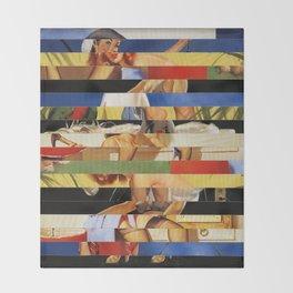 Glitch Pin-Up Redux: Jessica Throw Blanket