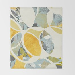 modern mid century, Graphic art, neutral colors, geometric art, circles, modern painting, abstract p Throw Blanket
