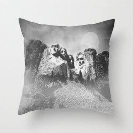 Rushmore at Night Throw Pillow