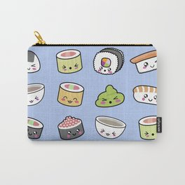 Happy kawaii sushi pattern Carry-All Pouch