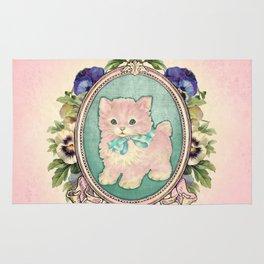 Kitschy Pink Kitten Rug
