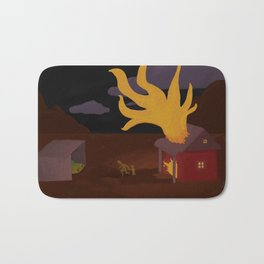 Night Fire Bath Mat