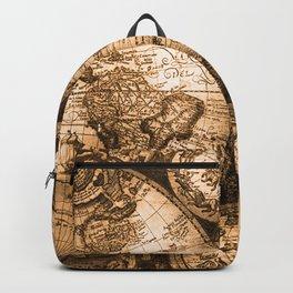 World Map Antique Vintage Maps Backpack