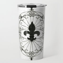 Wrought Iron Fleur de Lis Travel Mug