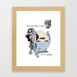 In the arms of war Framed Art Print
