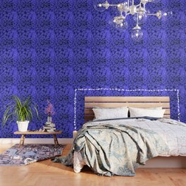 Blue Queen Anne's Lace (Up Close) Wallpaper