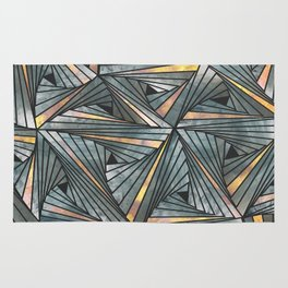 Mesh (Grey and Copper) Rug
