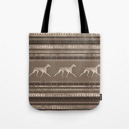 Azawakh Sighthound on African Pattern Tote Bag