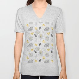 Leaves Pattern Unisex V-Neck