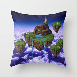Floating Kingdom of ZEAL - Chrono Trigger Throw Pillow