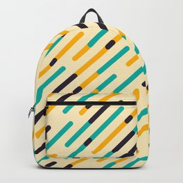 Retro Rounded Diagonal Stripes Backpack