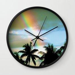 Colors Over Maui Wall Clock