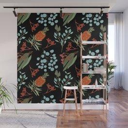 Australian Botanicals - Black Wall Mural