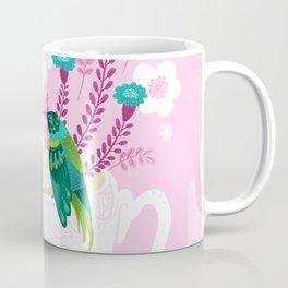 Hummingbirds on Teacup Coffee Mug