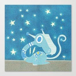 Blue Dragonie Canvas Print