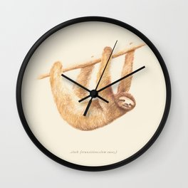 Css Animal: Sloth Wall Clock