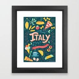 Missing Italy everyday poster Framed Art Print