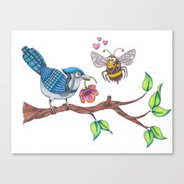 the birds and the bees Canvas Print
