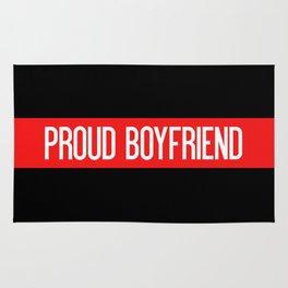 Firefighter: Proud Boyfriend (Thin Red Line) Rug