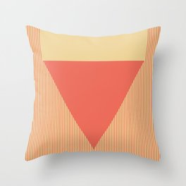 Red Triangle Throw Pillow