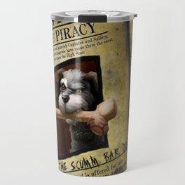 Monkey Island - WANTED! Spiffy, the Scumm Bar dog Travel Mug
