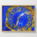 Royal Blue and Gold Abstract Lace Design by throughcrystalseyes