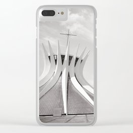 Brasilia's Cathedral   Niemeyer Architect Clear iPhone Case