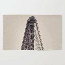Flatiron Building, original New York photography, skyscrapers, wall decoration, home decor, nyc b&w Rug