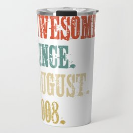 Awesome Since August 2008 10 Year Old Vintage Gift Travel Mug