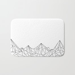 Night Court Mountain Design Bath Mat