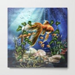 Goldfisch Amando Metal Print