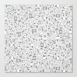 All Tech Line / Highly detailed computer circuit board pattern Canvas Print