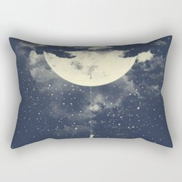 MOON CLIMBING Rectangular Pillow