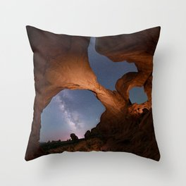 Double Arch in Arches National Park 2 Throw Pillow