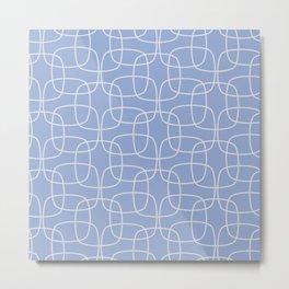 Square Pattern Serenity Metal Print