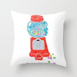 Bubble gum machine. Throw Pillow