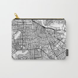 Amsterdam White Map Carry-All Pouch