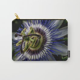 Macro photo of flower of passion Carry-All Pouch